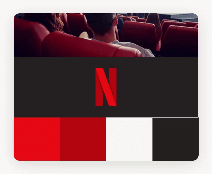 Kolory loga znanych marek - logo Netflix