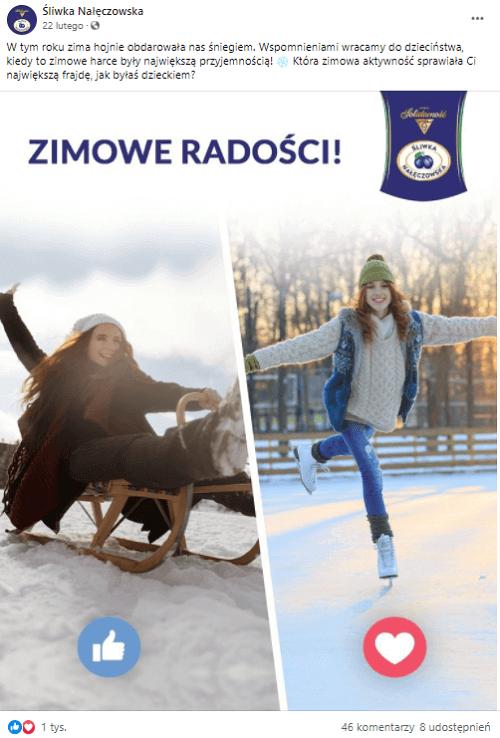 Ciekawe posty naFacebooka - Social Media Śliwka Nałęczowska