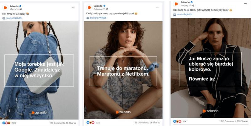 Ciekawe pomysły naangażujące posty - Zalando