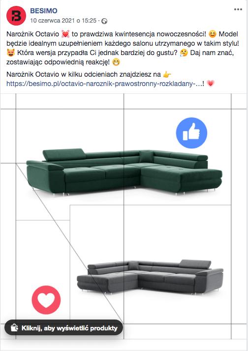Rodzaje postów naFacebooku nazaangażowanie
