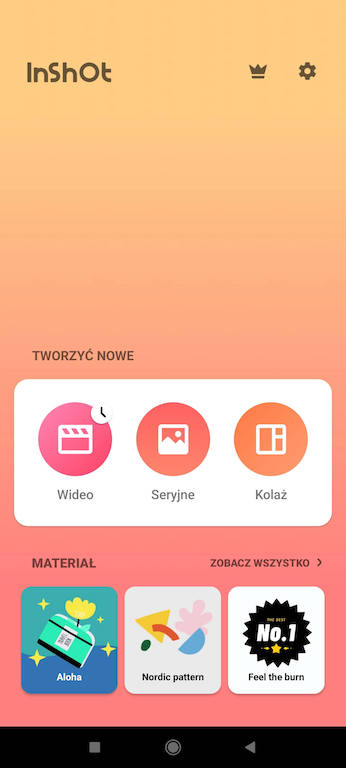 Darmowe aplikacje doinstastory - InShot