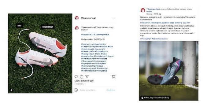 jak pisać posty nainstagrama ifacebooka - przykład 11Teamsports