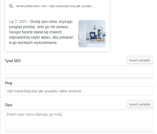 Brak meta tagów - błędy SEO